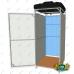Летний душ с раздевалкой Импласт Комби. Бак: 110 л. (с обогревом и без)
